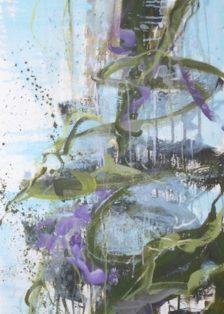 Alles in Fluss I-IV- Acryl auf Leinwand- 130x125cm- 2017