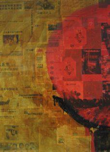 die fünf tibeter I - lack auf leinwand - 130 x 100 cm - 2005