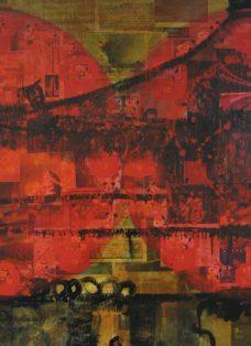 die fünf tibeter II - lack auf leinwand - 130 x 100 cm - 2005