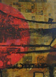 die fünf tibeter III - lack auf leinwand - 130 x 100 cm - 2005