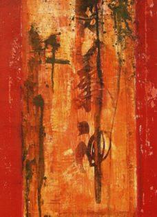 dongdan santiao I - collage - mixed media auf leinwand - 100 x 50 cm - 2005