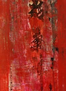 dongdan santiao II - collage - mixed media auf leinwand - 100 x 50 cm - 2005