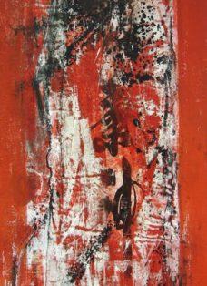 dongdan santiao III - collage - mixed media auf leinwand - 100 x 50 cm - 2005