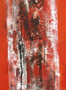 dongdan santiao IV - collage - mixed media auf leinwand - 100 x 50 cm - 2005