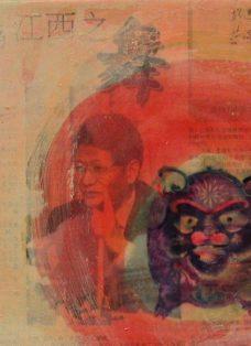 moving on V - collage auf leinwand - 20 x 20 cm - 2004