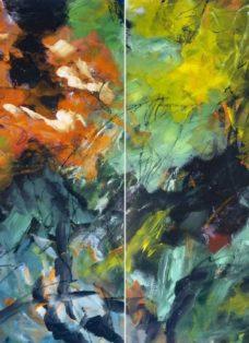 im augenblick I-II - mixed media auf leinwand - 100 x 140 cm - 2017