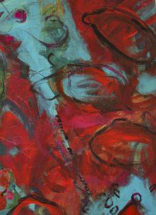 im jadegarten II - collage - mixed media auf leinwand - 70 x 50 cm - 2005