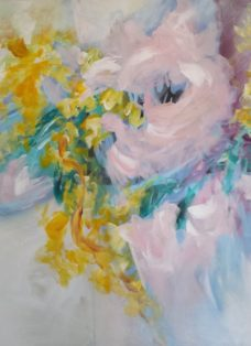 la vie en rose I - acryl auf leinwand - 110 x 90 cm - 2018