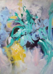 la vie en rose III - acryl auf leinwand - 110 x 90 cm - 2018