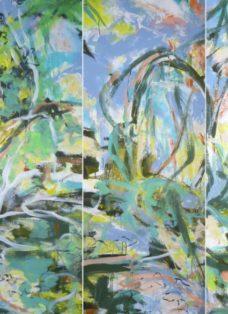 landeplatz für schmetterlinge I-VI - mixed media auf leinwand - 130 x 225 cm - 2017