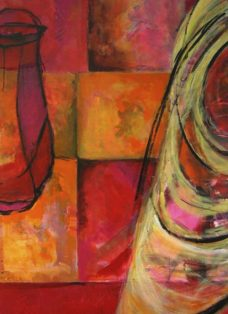 memories I - collage - acryl auf leinwand - 140 x 90 cm - 2005