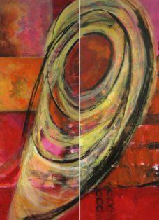 memories I-II - collage - acryl auf leinwand - 140 x 90 cm - 2005
