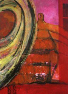 memories II - collage - acryl auf leinwand - 140 x 90 cm - 2005