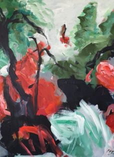 moving on II - mixed media auf leinwand - 100 x 130 cm - 2019