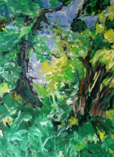 sonntag im gruenen I - mixed media auf leinwand - 120 x 100 cm - 2015