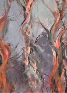 zauberwald - mixed media auf leinwand - 100 x 130 cm - 2012