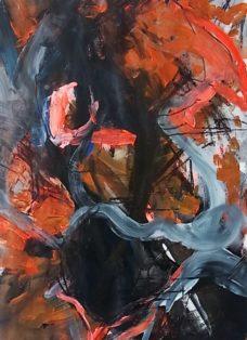 werden und vergehen V - mixed media auf papier - 100 x 70 cm - 2013
