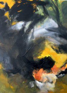 werden und wandeln - mixed media auf leinwand - 110 x 90 cm - 2013