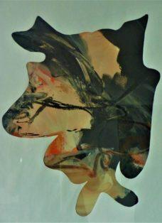 zwischenraum I - acryl auf papier - 65 x 50 cm - 2014