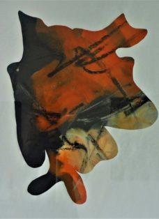 zwischenraum II - acryl auf papier - 65 x 50 cm - 2014