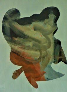 zwischenraum IV - acryl auf papier - 65 x 50 cm - 2014
