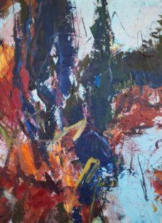 unlimited nature IV - mixed media auf leinwand - 90 x 90 cm - 2019