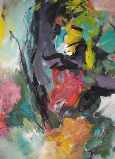 flow of colours I - mixed media auf leinwand - 90 x 90 cm - 2019