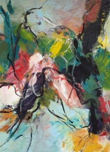 flow of colours II - mixed media auf leinwand - 90 x 90 cm - 2019