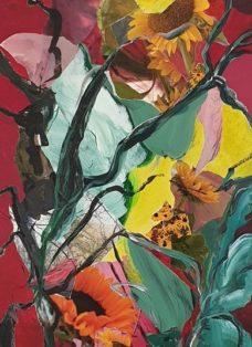 good times I - collage - acryl auf leinwand - 100 x 50 cm - 2020