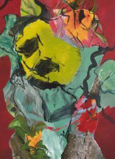 good times II - collage - acryl auf leinwand - 100 x 50 cm - 2020