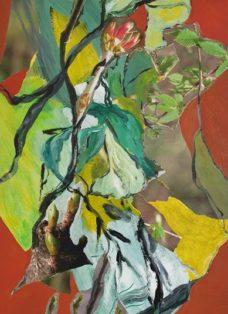 good times III - collage - acryl auf leinwand - 100 x 50 cm - 2020