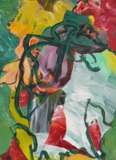 good times IV - collage - acryl auf leinwand - 100 x 50 cm - 2020