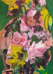 good times V - collage - acryl auf leinwand - 100 x 50 cm - 2020