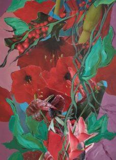 good times VI - collage - acryl auf leinwand - 100 x 50 cm - 2020