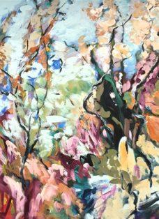 frühling in der luft - acryl auf leinwand - 2021 - 110 x 90 cm