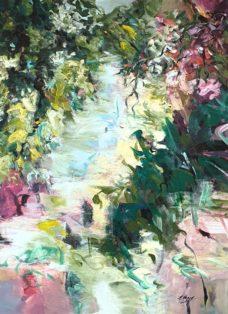 den sommer fühlen - acryl auf leinwand - 2021 - 110 x 90 cm