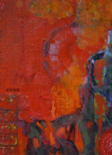 zwischen den zeiten I - collage - öl auf leinwand - 130 x 100cm - 2004