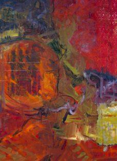 zwischen den zeiten II - collage - öl auf leinwand - 130 x 100cm - 2004