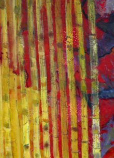zwischen den zeiten III - collage - öl auf leinwand - 130 x 100cm - 2004