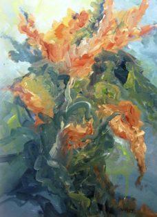abschied vom sommer II - acryl auf leinwand - 100 x 70 cm - 2016