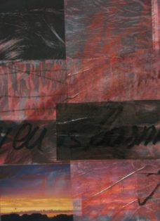 heaven is burning I - collage - mixed media auf leinwand - 40 x 60 cm - 2006