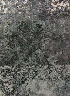sad times - collage - mixed media auf leinwand - 40 x 60 cm - 2006