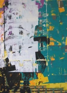 cuba I - collage - siebdruck auf leinwand - 100 x 70 cm - 2005