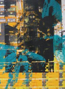 cuba II - collage - siebdruck auf leinwand - 100 x 70 cm - 2005
