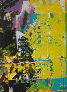 cuba IV - collage - siebdruck auf leinwand - 100 x 70 cm - 2005