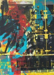 cuba III - collage - siebdruck auf leinwand - 100 x 70 cm - 2005