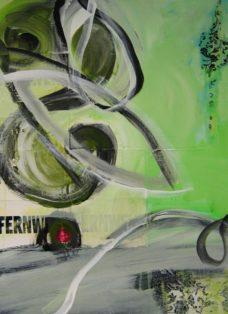 fernweh I - collage - mixed media auf leinwand - 70 x 50 cm - 2008
