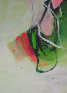fernweh III - collage - mixed media auf leinwand - 70 x 50 cm - 2008