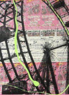 grün auf hoffnung VI - collage - mixed media auf leinwand - 50 x 50 cm - 2007