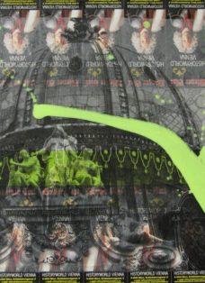 grün auf hoffnung  IX - collage - mixed media auf leinwand - 50 x 50 cm - 2007